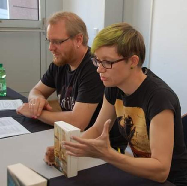 Judith und Christian Vogt auf der BuCon